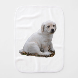Lab Puppy Sitting Burp Cloth