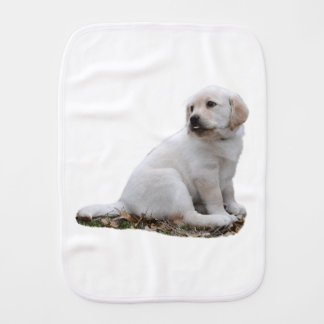 Lab Puppy With Head Turned Burp Cloth