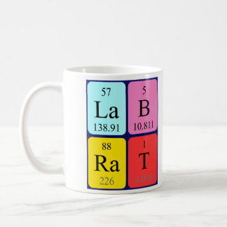 Lab Rat periodic table name mug