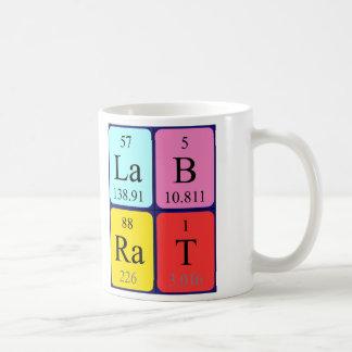 Lab Rat periodic table name mug