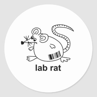 Lab Rat Round Sticker