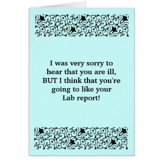 Lab Report Get Well Card