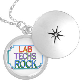 Lab Techs Rock Locket Necklace