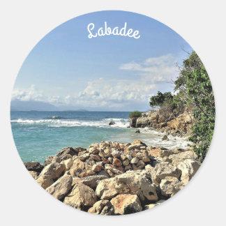 Labadie Seascape No. 2 Custom Classic Round Sticker