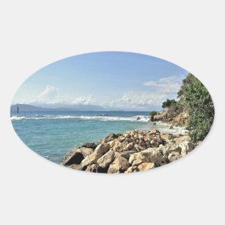Labadie Seascape No. 2 Oval Sticker