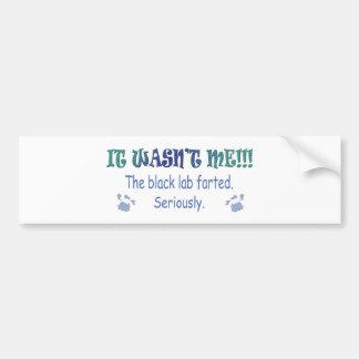 LabBlack Bumper Sticker