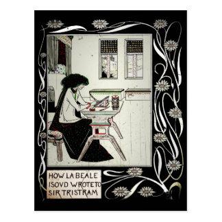 LaBeale Writes Sir Tristam Postcard
