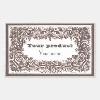 Label 1 Elenore Rectangular Sticker