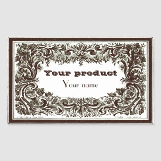 Label 1 Gram Rectangular Sticker
