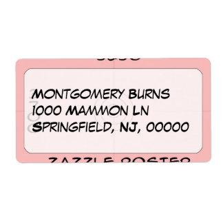Label - address shipping label