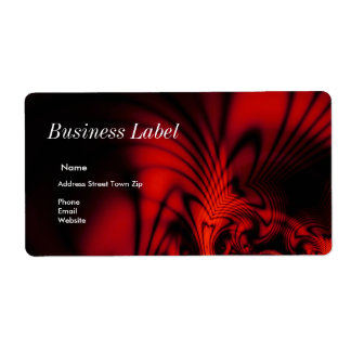 Label Address Business Abstract Red Black Shipping Label