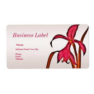Label Address Business Pink Floral Shipping Label