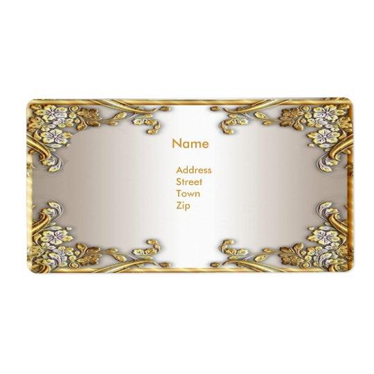 Label Address Elegant Gold Cream