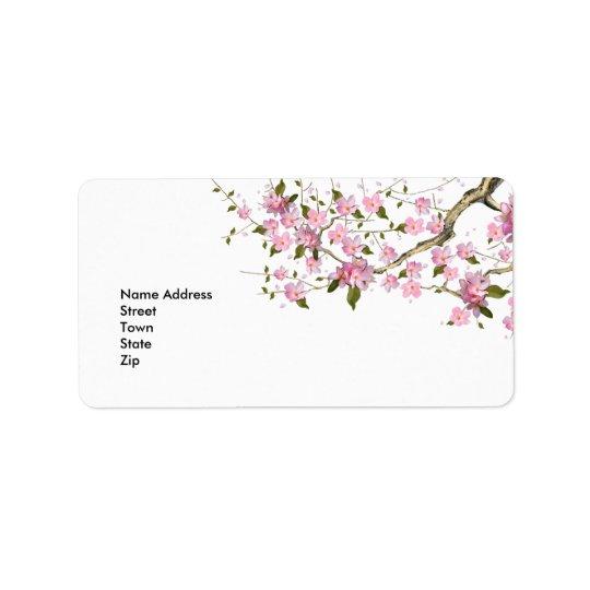 Label Address Sticker Vintage Retro blossoms Address Label