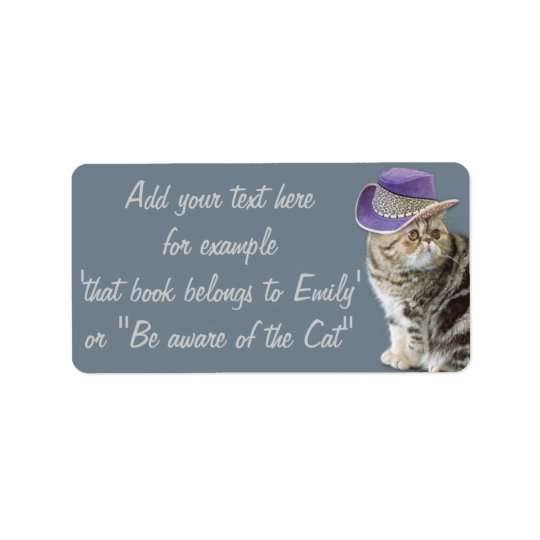 Label Be aware of the cat by BestPeople