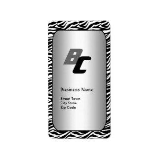 Label Business Elegant Black Silver Zebra Elite Address Label