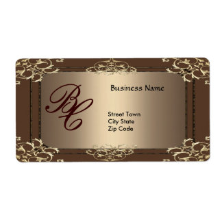 Label Business Elegant Coffee Gold Elite Shipping Label