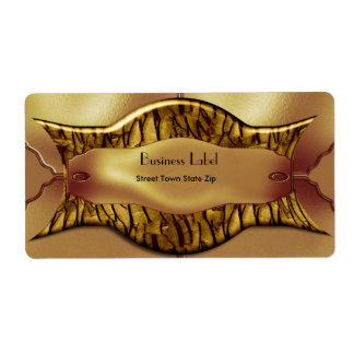 Label Business Exotic African Gold Metal on metal Shipping Label