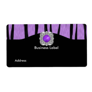 Label Business Wild Purple Black Shipping Label