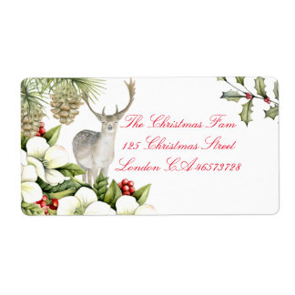 Label Christmas stag Shipping Label