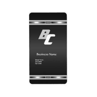 Label Elegant Black Silver Elite Business Address Label