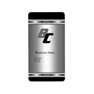 Label Elegant Black Silver Elite Business Chrome Address Label