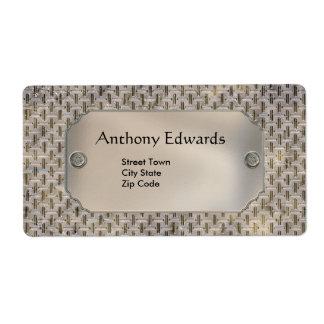 Label Elegant Personal Business Metal Shipping Label