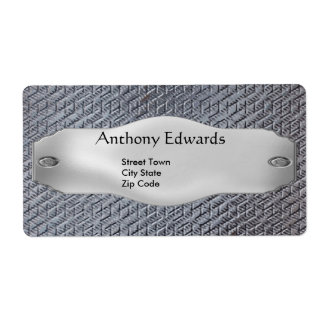 Label Elegant Personal Business Metal Shipping Label