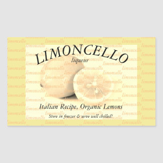 Label for Limoncello