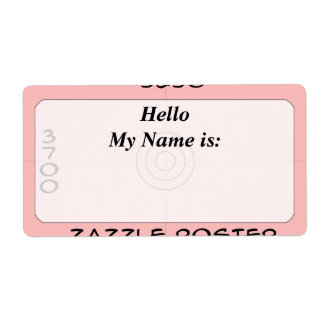 Label - framed - my name shipping label