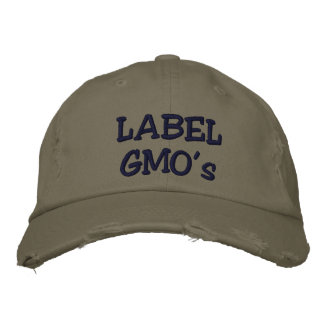 Label GMO's Embroadered distressed hat Embroidered Baseball Cap