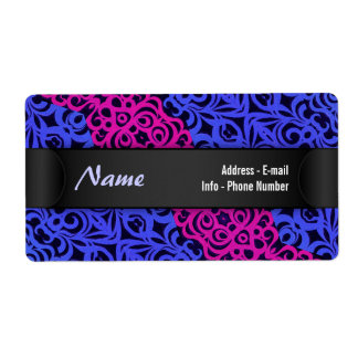 Label Indian Style Shipping Label