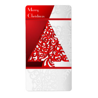 Label Merry Christmas Shipping Label