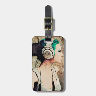 "Label of luggage ""Woman music "" Luggage Tag"