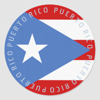 Label or Decal: Puerto Rico Flag
