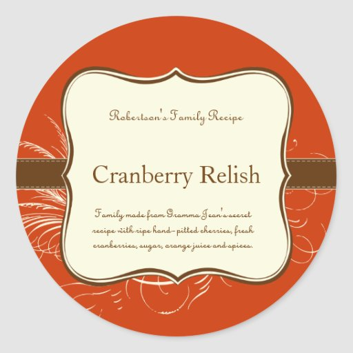 Label or Place Setting Sticker