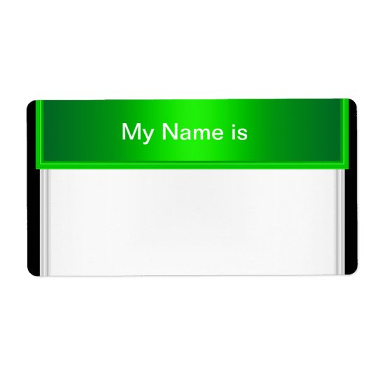 Label Party Name Tag Green Shipping Label