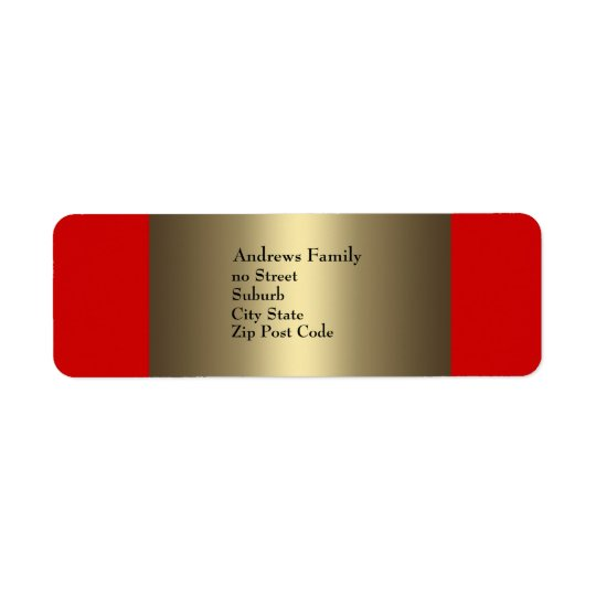 Label Red & Bronze Simple