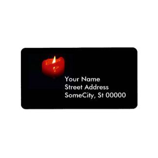 Label - return - Red Candle Address Label