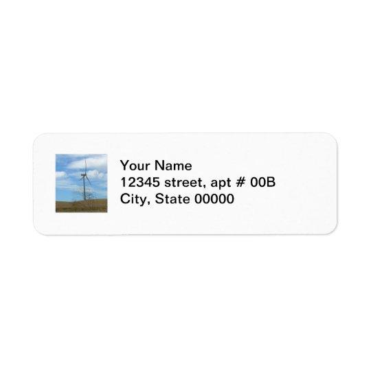 Label - return - Wind turbine Return Address Label