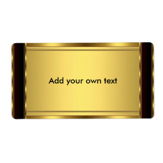 Label Sticker Black & Gold Large Shipping Label