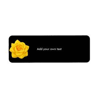 Label Sticker Black & Yellow Flower