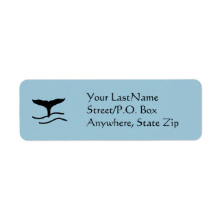 Label - Whale Flukes Return Address Label