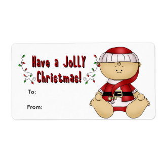 Label Xmas Gift Sticker Tags Christmas Cute Baby Custom Shipping Labels