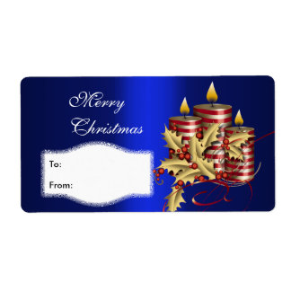 Label Xmas Gift Sticker Tags Christmas Large Size Custom Shipping Labels