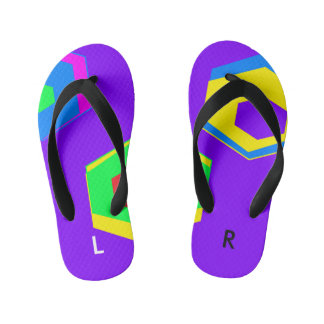Labeled Customized Flip Flops, Toddlers/Kids Thongs