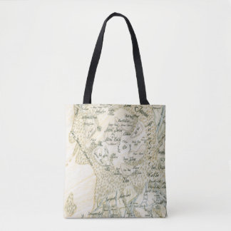 Labeled Map of Trino Tote Bag