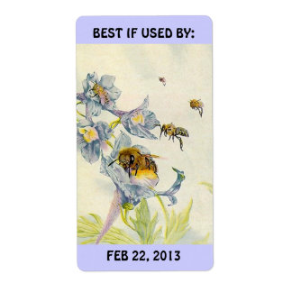 Labels Honey Bees Canning Baking BEST IF USED BY