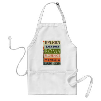 Labels trips standard apron