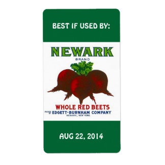 Labels Vintage Beet Home Canning BEST IF USED BY
